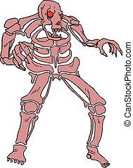 red skull monster - Creative design of red skull monster