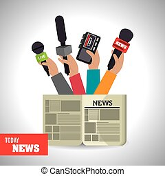 Journalism design - Journalism design over white background,...
