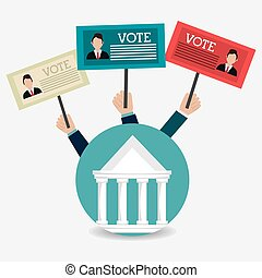 Vote design. - Vote design over white background, vector...