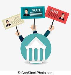 Vote design. - Vote design over white background, vector...