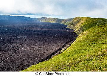 Sierra Negra Volcano - Crater of Sierra Negra Volcano on...