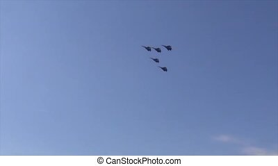 Aerobatic team flight aerobatic team