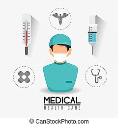Medical design - Medical design over white background,...