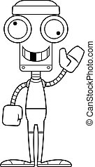 Cartoon Silly Fitness Robot - A cartoon fitness robot...