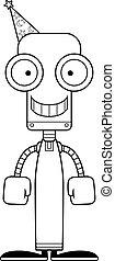 Cartoon Smiling Wizard Robot