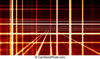 Abstract digital vertical and horizontal red lines background, seamless loop ready animation hd