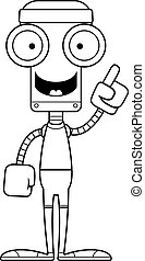 Cartoon Fitness Robot Idea - A cartoon fitness robot with an...