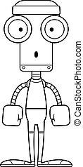 Cartoon Surprised Fitness Robot - A cartoon fitness robot...