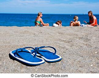 Dia, em, praia