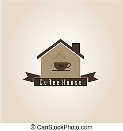 Coffee house, vector illustration