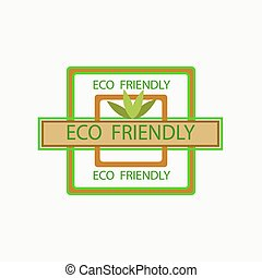 ECO FRIENDLY - Eco, friendly, vector, stamp, isolated