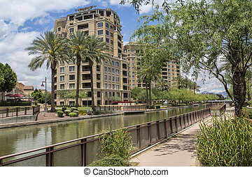 Scottsdale Arizona Waterfront District - Downtown Scottsdale...