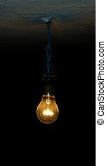 Old Lightbulb - An incandescent lightbulb.