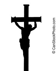 Jesus Christ Crucifiction Silhouette - Isolated silhouette...