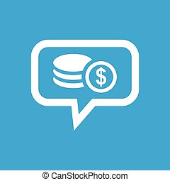 Dollar rouleau message icon - Image of dollar coins rouleau...