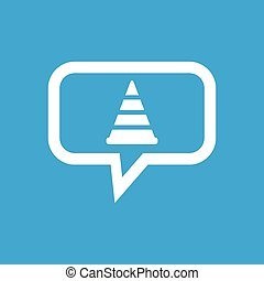 Traffic cone message icon - Image of traffic cone in chat...