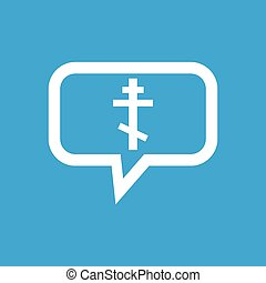 Orthodox cross message icon - Image of orthodox cross in...