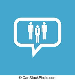 Work team message icon - Image of three persons in workteam...