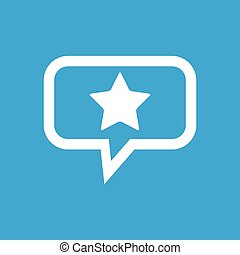 Star message icon - Image of star in chat bubble, isolated...