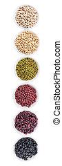 Beans Variety - Black eye peas, mung bean, adzuki beans,...