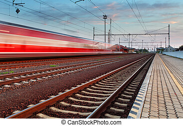 Speed Train in station