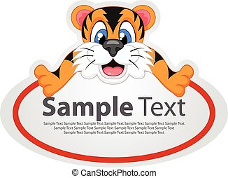 Sticker with animal design - tiger
