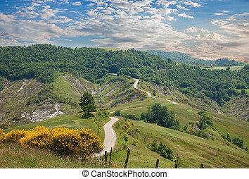 hills of Emilia Romagna, Italy - italian landscape - hills...