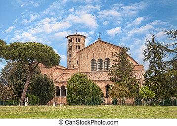 basilica of Sant'Apollinare in Classe, Ravenna, Italy -...