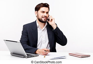 Confident businessman portrait - Confident young caucasian...