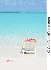 niña, en, el, Playa., grande, Exuma, Bahamas, ,