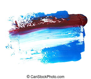 red and blue grunge brush strokes - photo red and blue...