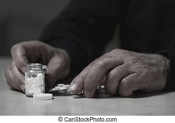 drogas,  overdose, ir, homem