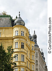 Ornate buildings in Vienna