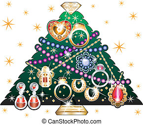 jewelry christmas tree3, daytime background
