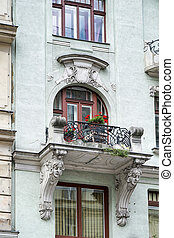 Detail of a baroque building in Vienna