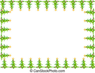 Christmas greeting card border - Green decorative christmas...
