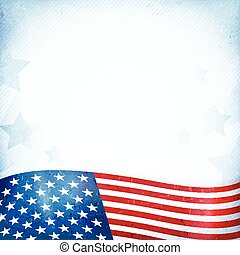 USA patriotic background with stars and stripes - US...