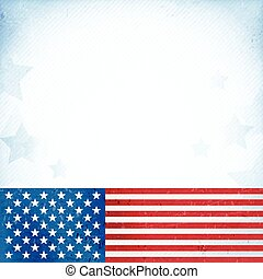 USA patriotic background - US American flag themed...
