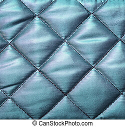 Quilted fabric - Blue silk quilted fabric for background