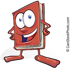 fun book cartoon on white background
