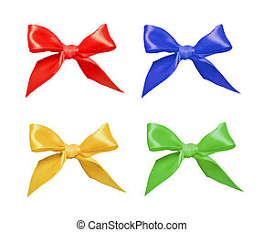 Ribbon bows isolated on white
