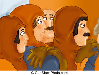 Middle Ages, man, mustache