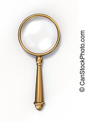 Magnifying glass - Photo realistic vintage magnifying glass....