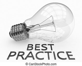 Best Practice - lightbulb on white background with text...