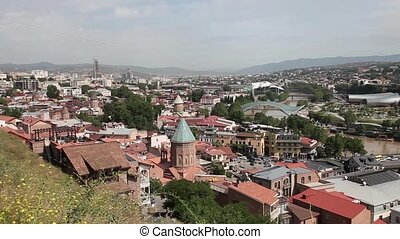 Panoramic view of Tbilisi town Geo - Panoramic view of...