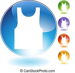 Tanktop Crystal Icon - Tanktop crystal icon isolated on a...