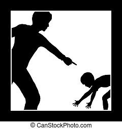 Emotional Punishment - Concept sign of father or teacher who...