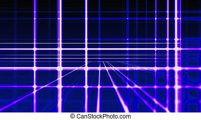 Abstract digital vertical and horizontal blue lines background, seamless loop ready animation hd