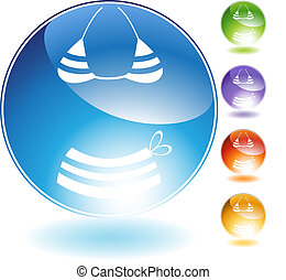 Bikini Crystal Icon