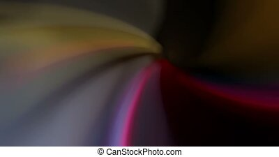 Colorful bended spotlights twisted background.